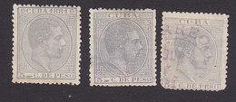 Cuba, Scott #97, 103, 125, Mint Hing/Used, King Alfonso XII, Issued 1881-83 - Cuba (1874-1898)