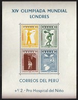 Peru / Olympic Games Melbourne 1956 / Shooting, Athletics, Basketball / Mi Bl 2 / MNH - Summer 1956: Melbourne