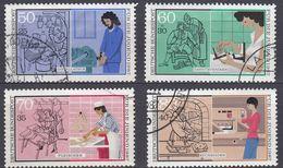 ALLEMAGNE FEDERALE - 1987 - Serie Completa Obliterata Yvert 1147/1150 Composta Da Quattro Valori. - Usati