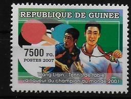 GUINEE  N°  (2007 )     * *  Tennis De Table Wang Liqin - Tenis De Mesa