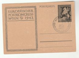 1943 Wiesbaden ARMISTICE COMMISSION  POST CONGRESS Event POSTAL STATIONERY CARD Horse Germany Cover Wwii - Germany