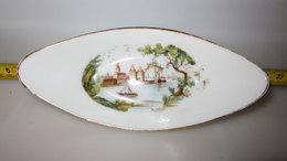 OVALE VINTAGE  32 BORDO ORO L.12 CM. - Ceramics & Pottery