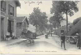 88 BUSSANG . L'entrée Du Village , Côté De St-Maurice , édit : Breger , écrite En 1904 , état Extra - Bussang