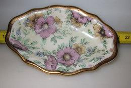 PIATTINO OVALE VINTAGE  M  BORDO ORO L. 9 CM - Ceramics & Pottery