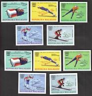 Madagascar / Olympic Games Innsbruck 1964 / Bob, Skating, Skiing / Mi 761-771 / MNH - Perforated + Imperforated - Winter 1964: Innsbruck