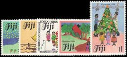 Fiji 1984 Christmas Childrens Paintings Unmounted Mint. - Fiji (1970-...)
