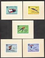 Madagascar / Olympic Games Innsbruck 1964 / Bob, Skating, Skiing / Mi 761-771 / MNH - Imperforated - Winter 1964: Innsbruck
