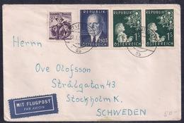 Österreich - 1956 - Brief - Nach Schweden Geschickt - 1945-.... 2ème République