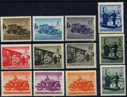 Postal Transport - Bulgaria / Bulgarie 1941 - Set(Mi No P(1-12)MNH** - Autres (Terre)