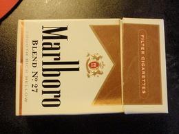 CIGARETTE BOX EMPTY PACK USA MARLBORO BLEND No 27 - Contenitori Di Tabacco (vuoti)