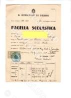 28730 PAGELLA SCOLASTICA SCUOLA 1940 AFRICA LIBIA DERNA COLONIE PAVIA VIGEVANO CASSOLNOVO SCHOOL REPORT CARD - Diplomi E Pagelle