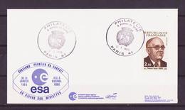 ESPACE - 1985/01 - Programme Ariane :  Conseil De L'ESA - ESA/Aérosptiale - 4 Documents - FDC & Commemoratives