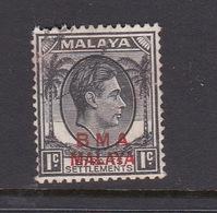 Malaya B.M.A  SG 1 1945 British Military Administration,1c Black,used - Malaya (British Military Administration)