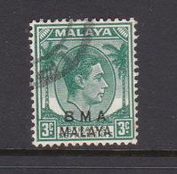 Malaya B.M.A  SG 4 1945 British Military Administration,3c Green,used - Malaya (British Military Administration)