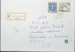 Slovakia - Registered Cover To Czech Zvolen 1996 Vranov Nad Toplou - Brieven En Documenten