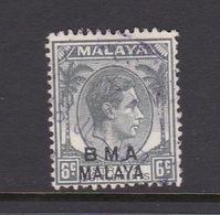 Malaya B.M.A  SG 6 1945 British Military Administration,6c Grey,used - Malaya (British Military Administration)