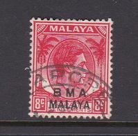Malaya B.M.A  SG 7 1945 British Military Administration,8c Scarlet,used - Malaya (British Military Administration)