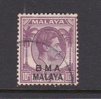 Malaya B.M.A  SG 8 1945 British Military Administration,10 Purple,used - Malaya (British Military Administration)