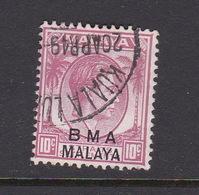 Malaya B.M.A  SG 8b 1945 British Military Administration,10 Slate Purple,used - Malaya (British Military Administration)