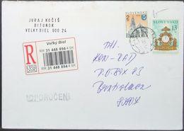 Slovakia - Registered Cover Clock 2001 Vel'ky Biel - Slowakije