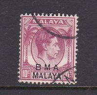 Malaya B.M.A  SG 8c 1945 British Military Administration,10 Magenta,used - Malaya (British Military Administration)