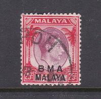 Malaya B.M.A  SG 13 1945 British Military Administration,25c Dull Purple And Scarlet - Malaya (British Military Administration)