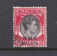 Malaya B.M.A  SG 15 1945 British Military Administration,black And Red - Malaya (British Military Administration)
