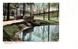 Rhode Island   Westerly , Wilcox Park - United States