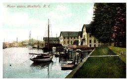 Rhode Island   Westerly , River Scene - United States
