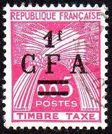 Réunion Obl. N° Taxe 45 - Gerbes De Blé - Timbre De France Surchargé CFA - Réunion (1852-1975)