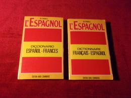 TRADUCTEUR ESPAGNOL FRANCAIS  ET FRANCAIS ESPAGNOL  ATLAS 2 VOLUMES - Voyages