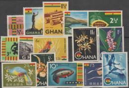 GHANA - 1959 Set Of 15. Scott 48-60, C1-2. MNH ** - Ghana (1957-...)