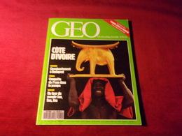 MAGAZINE GEO  No 132 FEVRIER 1990  COTE D'IVOIRE - Tourism & Regions