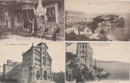 18 / 8 / 198 - MONACO  - LOT  DE  9  CPA  &  3  CPSM - Toutes ScanéesDos  - Divisé   Simple Circulé    - Oui  Non Année - Postcards