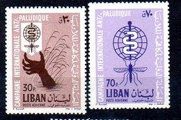 1962 Anti Malaria MNH Mi 784-5 (70) - Libanon