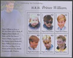 PAPUA NEW GUINEA - 2003 Prince William's 21st Birthday  Souvenir Sheet. MNH ** - Papouasie-Nouvelle-Guinée