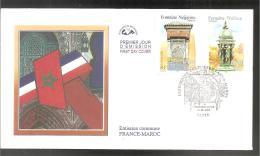 FDC 2001   FRANCE - MAROC - FDC