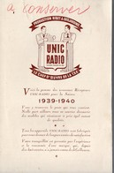 (TSF)   Prospectus UNIC RADIO  1939-1940  (PPP9113) - Advertising