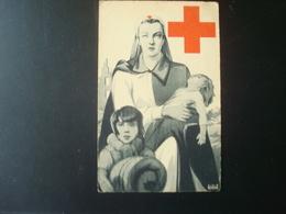 Croix-rouge : Femme Et Enfants Signée J. V.D. BERGH - Croix-Rouge