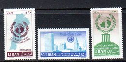 1961 UNO MNH Mi 709-11 (90) - Libanon