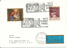 Austria Christmas Cover Christkindl 13-12-1994 Sent To Germany - 1991-00 Lettres