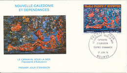 New Caledonia FDC 17-6-1978 Underwater Carnival With Cachet - FDC