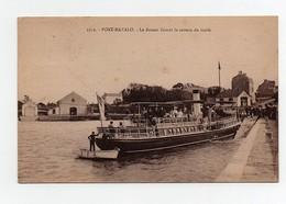 CPA Port Navalo Le Bateau Faisant Le Service Du Golfe 1927 - Dampfer