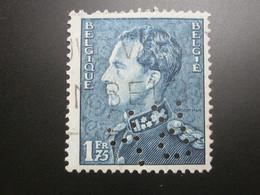 BELGIEN   , Firmenlochung,perfin - 1934-51