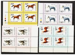 RTY657 ALBANIEN 1992 Michl 2506/09 ECKRANDVIERERBLÖCKE SIEHE ABBILDUNG - Albanien