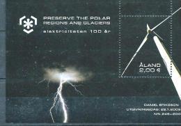 Aland 2009 Bloc N° 7 Oblitéré, Protection Des Zones Polaires électricité - Aland