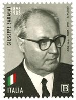 Italia Repubblica 2018 Giuseppe Saragat Euro 1,10 MNH** Integro - 6. 1946-.. Repubblica