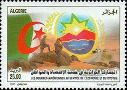 ALGERIE ALGERIA 2015 DOUANE DOUANES CUSTOMS FLAG DRAPEAU MOUNTAINS DESERT CAR MNH ** - Police - Gendarmerie
