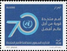 ALGERIE ALGERIA 2015 - 70 TH ANNIVERSARY UNITED NATIONS - JOINT ISSUE - COMMON DESIGN - MNH ** - Gemeinschaftsausgaben