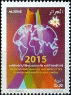 ALGERIE ALGERIA 2015 - INTERNATIONAL LIGHT YEAR ANNEE INTERNATIONALE LUMIERE MAP GLOBE  - MNH ** - Gemeinschaftsausgaben